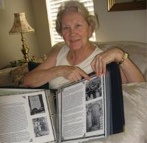 Joyce Hartley shares her scrapbook.
